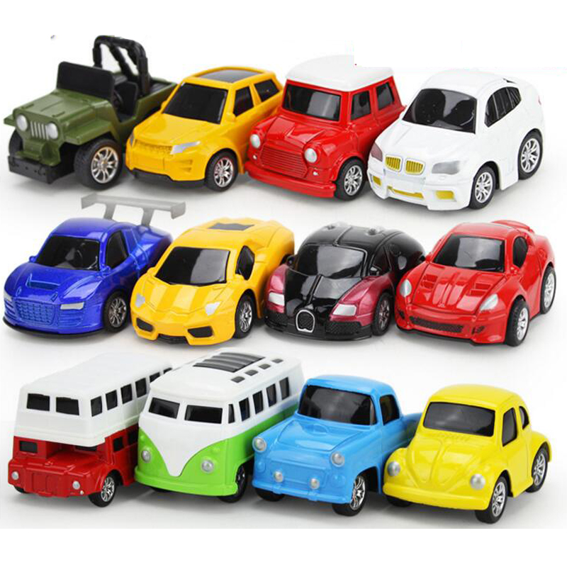 4pcs Lot Kids Cartoon Mini Cars 1 64 Pull Back Diecast Model Car