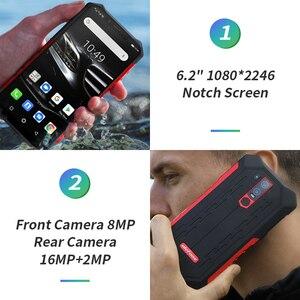"""Image 4 - Ulefone鎧6E IP68防水6.2 """"スマートフォンのandroid 9.0エリオP70 4ギガバイト64ギガバイト顔id nfcワイヤレス充電器携帯電話"""