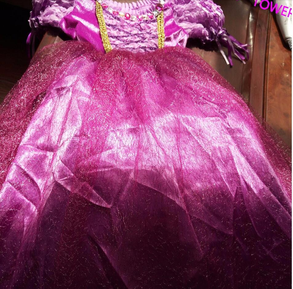 Rapunzel princesa vestido de traje los niños Princesse Sofia disfraz ...