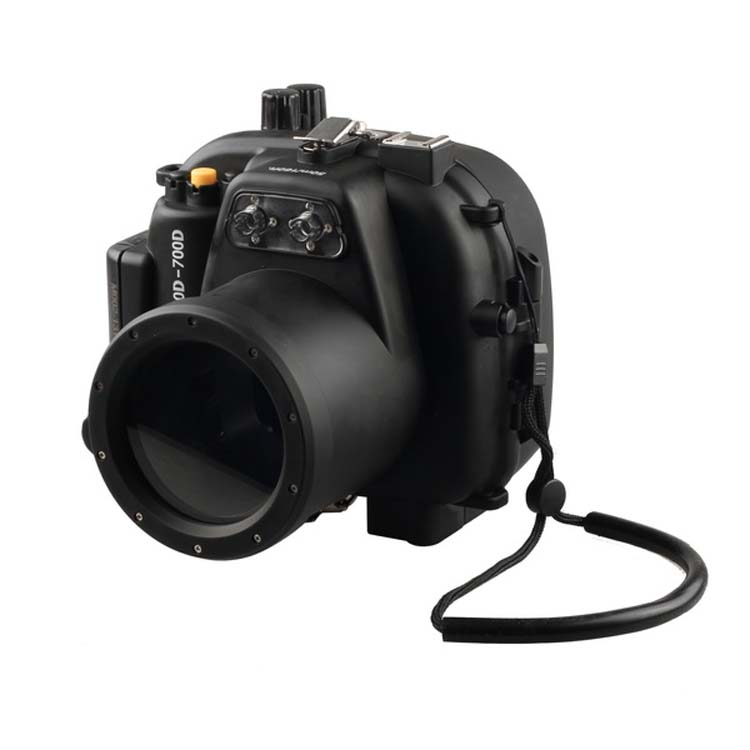 Waterproof Underwater Housing Camera Housing Case for Canon 650D 700D 18-55mm Rebel T4i T5i Lens Meikon meikon 40m waterproof underwater camera housing case bag for canon 600d t3i