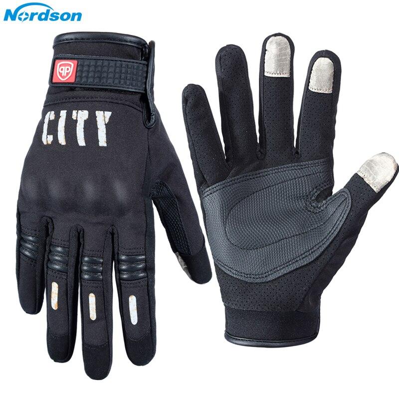 Nordson moto rcycle Handschuhe Für Männer Touchscreen Elektrische Fahrrad Handschuh moto Radfahren Racing Schützen Getriebe Guantes moto Luvas da moto ci