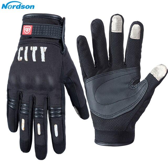 Nordson Motorcycle Gloves For Men Touch Screen Electric Bike Glove Moto Cycling Racing Protect Gear Guantes Moto Luvas da motoci