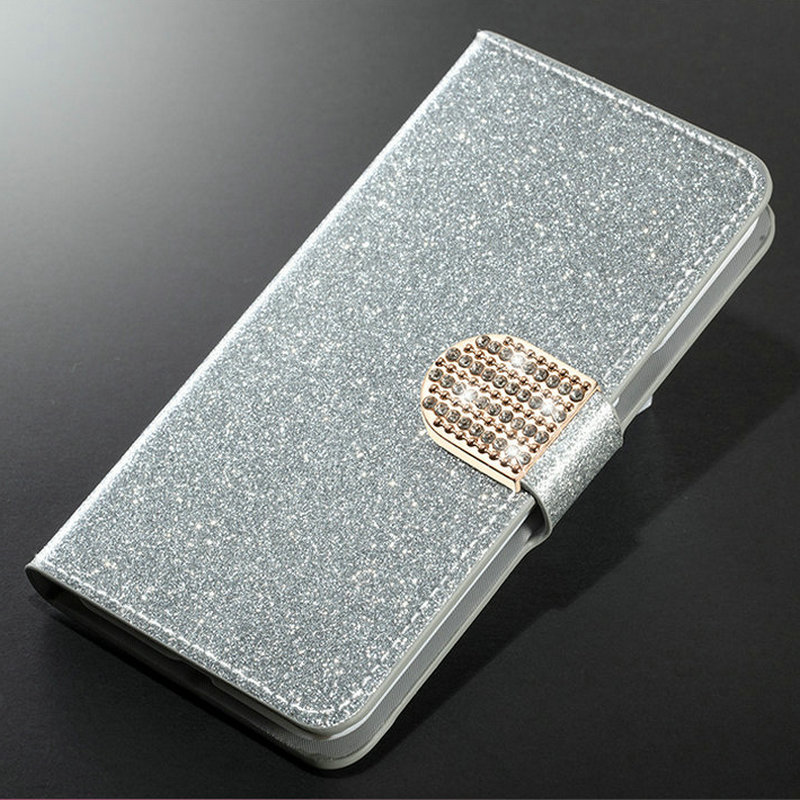 Dneilacc Bling Rhinestone PU Leather Case For <font><b>OnePlus</b></font> 7 Pro <font><b>Cover</b></font> <font><b>Original</b></font> <font><b>Flip</b></font> Stand Wallet Phone Coque Card Slot <font><b>OnePlus</b></font> 7 image