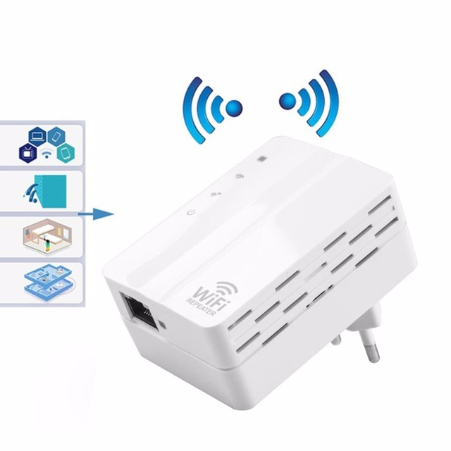 YKS 2.4GHz 300Mbps WiFi Repeater Home Travel Wireless Router Signal Booster Extender