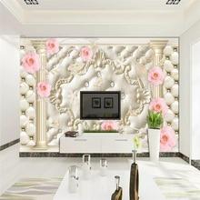 Papel tapiz decorativo estilo simple nórdico pintado a mano vintage acuarela flor TV fondo de pared