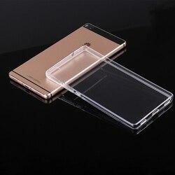 Pour HUAWEI P6 P7 P8 P8lite Honor 6 7 3C 4C 3X Ascend G7 coque plastique souple silicone ultra mince Transparent