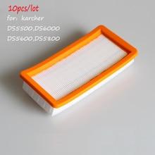 10 unids/lote Filtro para Karcher 6.414-631.0 Filtro de Aspiradora Karcher DS5500 DS5600 DS5800 Filtros Lavables Accesorio de Vacío