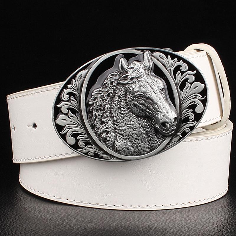 dcfdd17630 Fashion belt horse pattern animal belts cowboy style men s jeans belt punk  rock style accessories