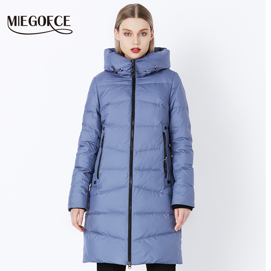MIEGOFCE 2018 Quality Women Winter Jacket From Bio Fluff  Winter Comfortable And Fashionable Parkas Women Winter Coat Clothing