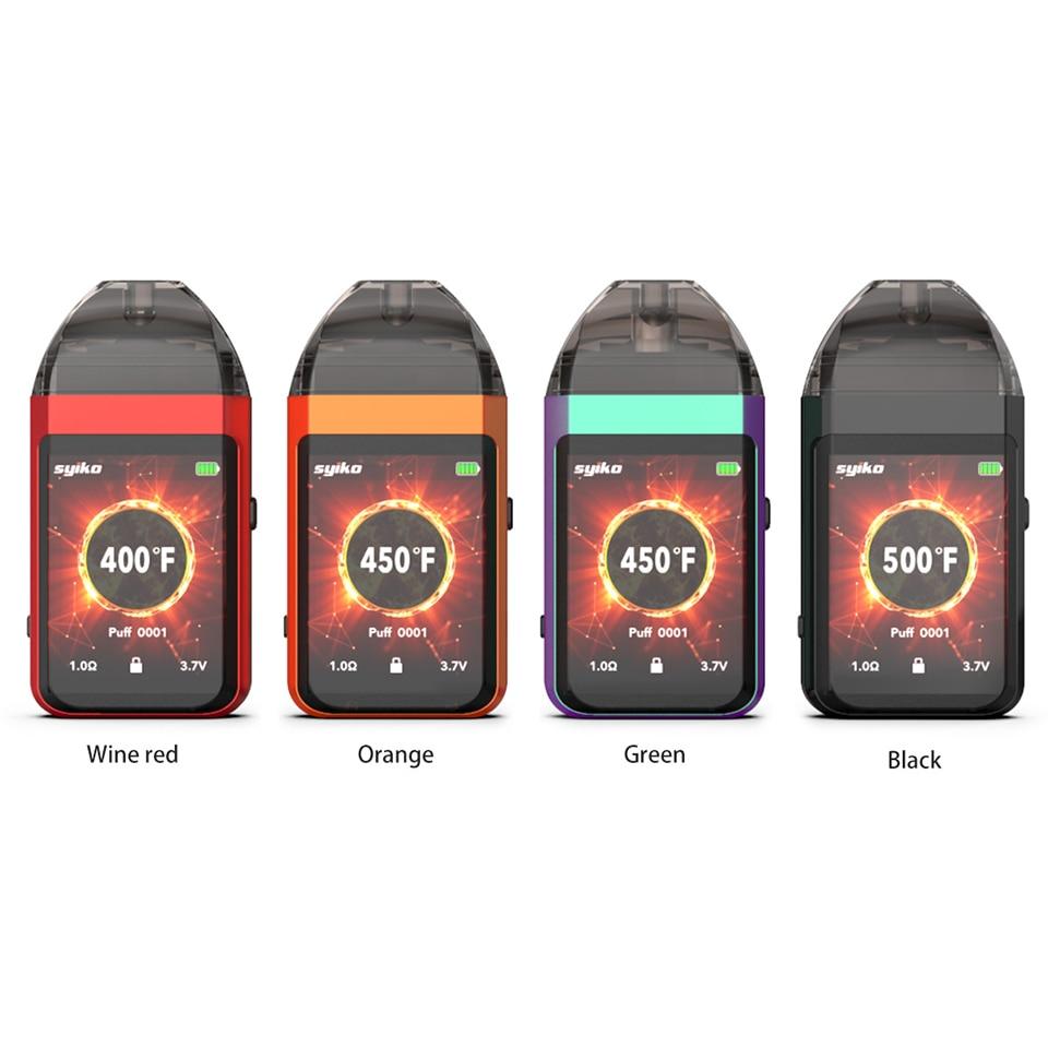 Updated Newest Portable Syiko SE Touch Pod kit 650mAh Built-in Battery Vape Electronic Cigarette 2ml Pod Vape kit VS Aspire AVP (3)
