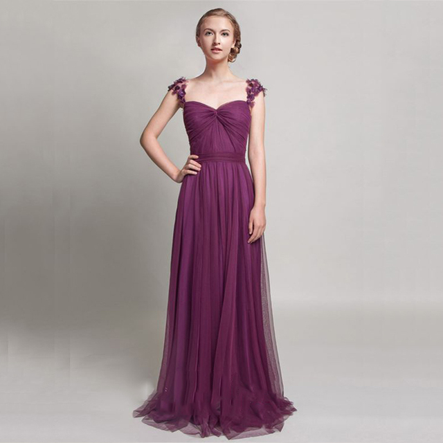 40741d88243 2017 Fabulous Grape Mulberry Tulle Chic Evening Maxi Gown Long Evening Dress  Women Red Carpet Prom