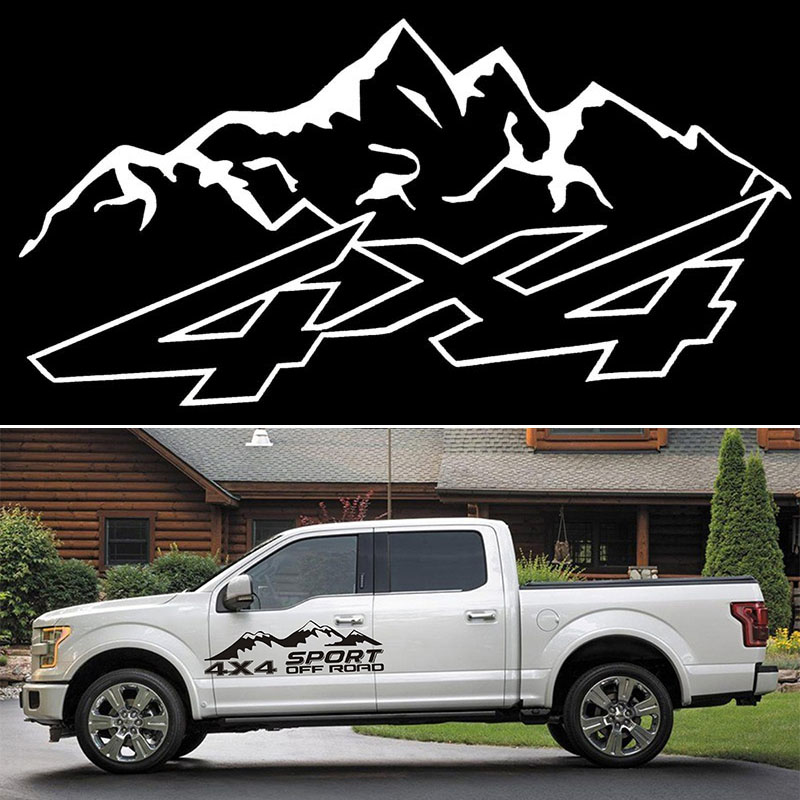 Body <font><b>Sticker</b></font> 130*40cm Car 1 Set Mountain <font><b>4x4</b></font> <font><b>Off</b></font> <font><b>Road</b></font> Door Vehicle Truck Tail Decor Useful image