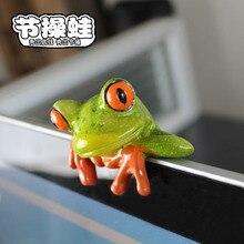 Resina Artesanato Criativo série Mr frog decoração da mesa de escritório computador presente decoração requintada Sapo Dos Desenhos Animados de Aniversário pequeno presente