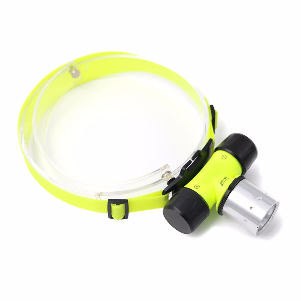 Diving Headlight Waterproof Head Torch Lantern Light T6 LED Headlamp Underwater Lamp Swimming Frontal Flashlight