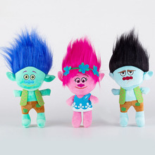 23cm Movie Trolls Plush Toy Doll The Good Luck Trolls Poppy Branch Dream Works Soft Stuffed Toys Gifts for Kids Children