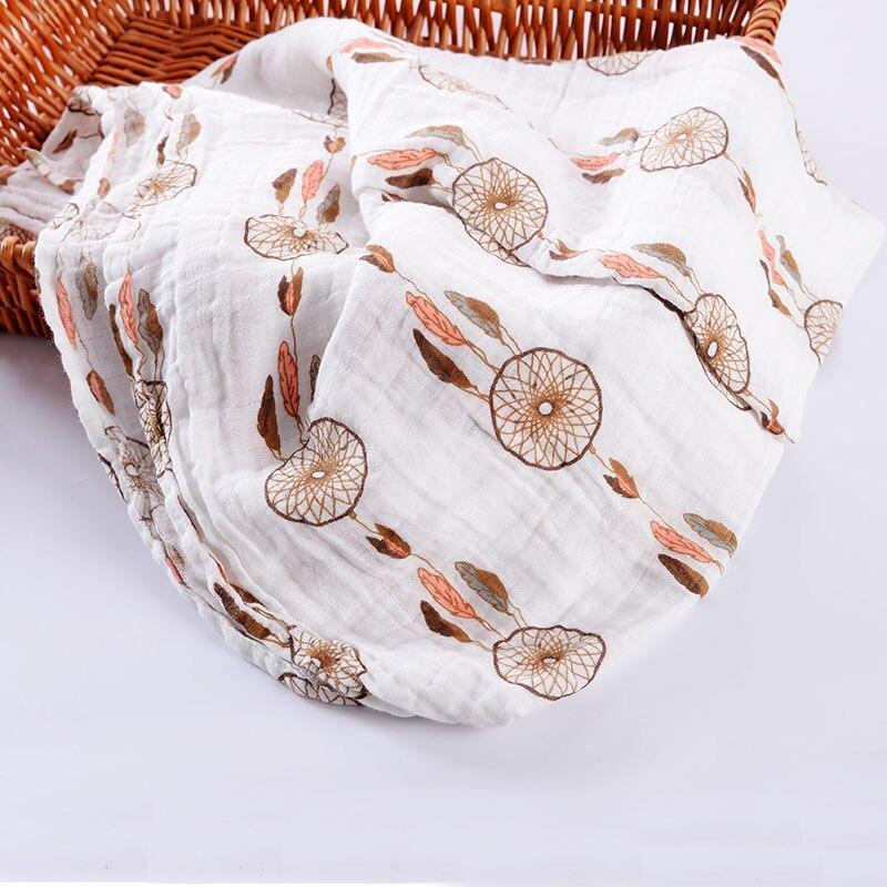 100% Mousseline Katoen Wraps Voor Newbron Baby Dekens Beddengoed - Beddegoed - Foto 5