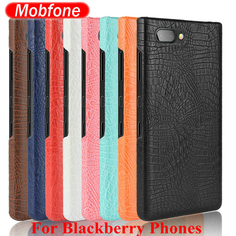 Crocodile Leather Pattern Hard PC Back Cover For Blackberry Key2 Two KeyOne Mercury Passport Q20 Q30 Silver Edtion BB Priv Case(China)