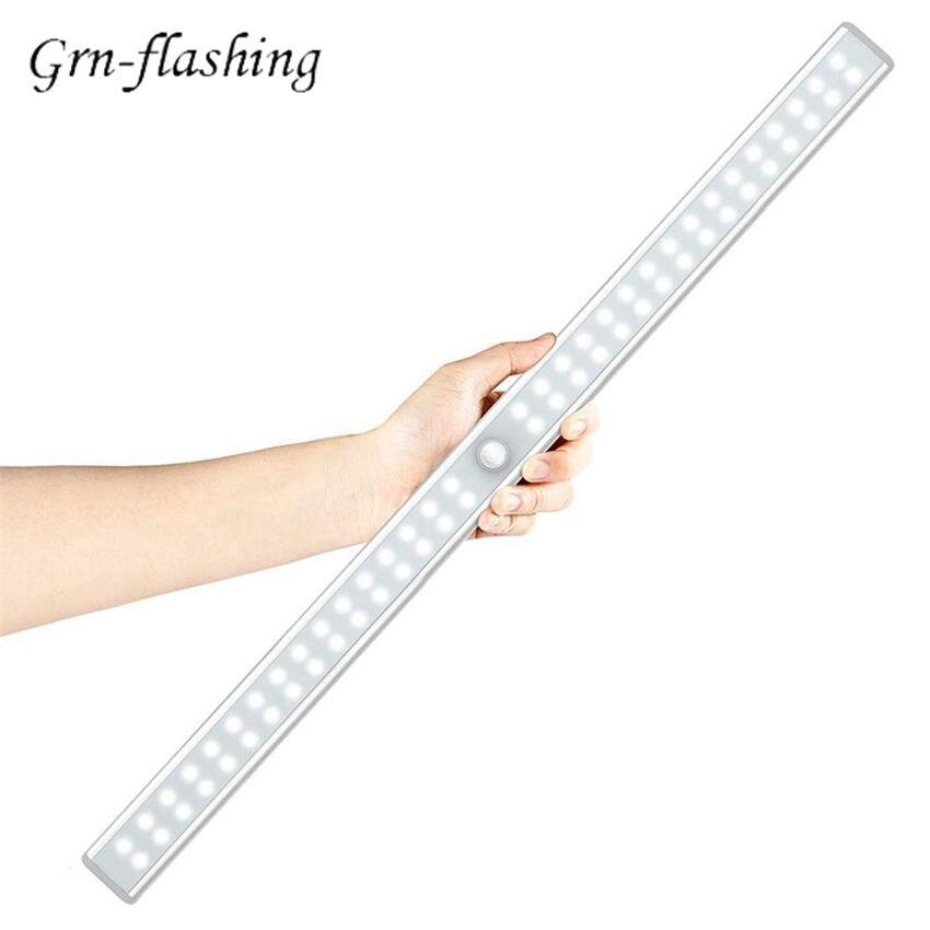 20/36/64 светодиодов PIR датчик движения светодиодная подсветка под шкаф USB платный шкаф ночник для гардероба Туалет Кухня домашняя лампа