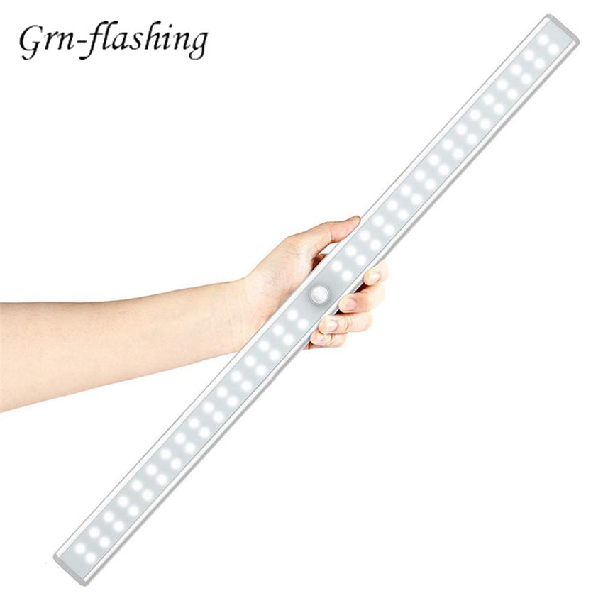20 36 64LEDs PIR Motion Sensor LED Under Cabinet Light USB chargeable Closet Night Light for