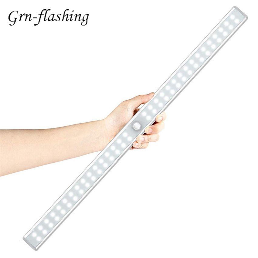 20/36/64LEDs PIR Motion Sensor LED Unter Kabinett Licht USB aufladbare Schrank Nacht Licht für Schrank wc Küche hause lampe