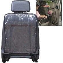 1 шт., автомобильные защитные чехлы на заднюю часть сиденья, водонепроницаемые прозрачные автомобильные чехлы из ПВХ для детей, пылезащитный коврик, черный цвет, 58*44 см