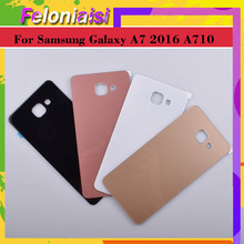10Pcs/lot For Samsung Galaxy A7 2016 A710 A710F SM-A710F Housing Battery Door Rear Back Glass Cover Case Chassis Shell Replaceme чехол для samsung galaxy a7 2016 sm a710f clear case прозрачный