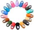 18 Цветов Искусственная Кожа Мокс Конфеты Цвет Новорожденный Ребенок Unisex Firstwalkers Spft Non-slip Sole Малышей Bebe Prewalkers 0-30months