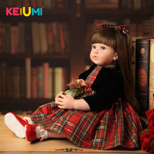Realistic 22'' Princess Reborn Baby Dolls Newborn Silicone with PP Cotton Body Baby Reborn 55 cm For Girl Playmates KEIUMI Toys(China)
