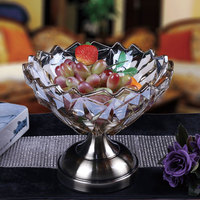 European glass fruit plate home decoration crafts ornaments living room crystal ornaments furnishings candy tray