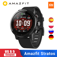 Amazfit Stratos 2 Swimming smart watch Global Version Sports Xiaomi Smartwatch GPS PPG Heart Rate GPS 5ATM Waterproof