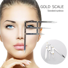 Eyebrow Tattoo Ruler Golden Ratio Permanent Grooming Stencil Shaper Symmetrical Tool Stainess Steel