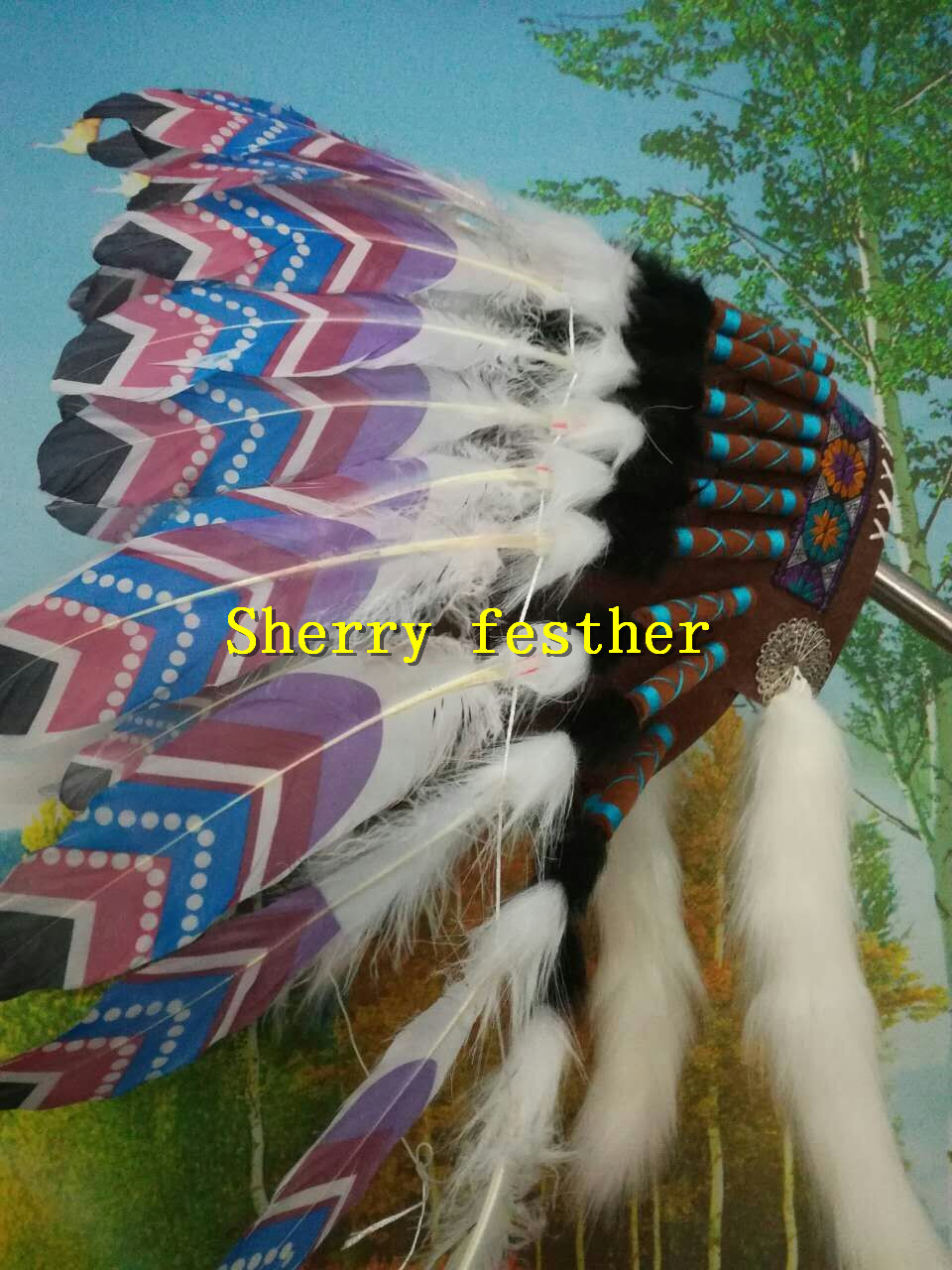 21inch Feather headdress feather headpiece headband costume for halloween dancewear costume decor