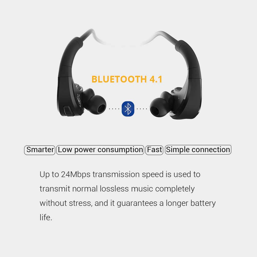 FiiDiil z pałąkiem na głowę słuchawki Bluetooth IPX5 wodoodporne bezprzewodowe słuchawki Stereo zestaw słuchawkowy Audio zestaw głośnomówiący do różnorodność centrum fitnessu z mikrofonem