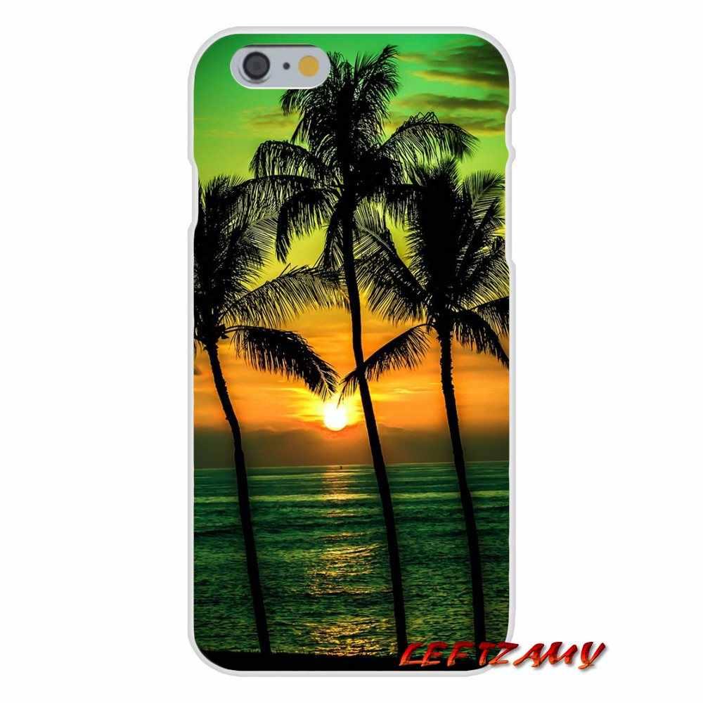 Летние пляжные дерево для Samsung Galaxy A3 A5 A7 J1 J2 J3 J5 J7 2015 2016 2017 аксессуары для телефона чехлы