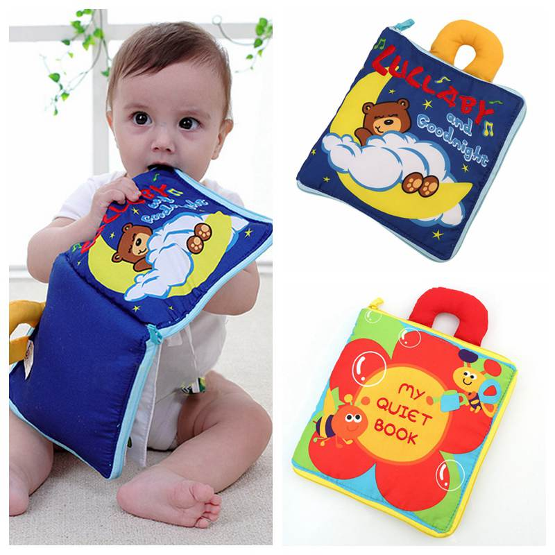 Baby Toys 0 12 Months 12 Pages Soft Cloth Baby Boy Girl