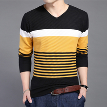 2017 Spring Tide Of New Men High-End Fashion And Personality Striped Sweater Men Men Leisure Mens Sweaters And Pullovers