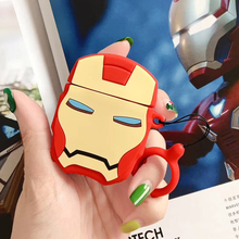 3D iron Man Superman Earphone Cases for AirPods 2 Case Cute Cartoon for Apple Air Pods Protect Cover