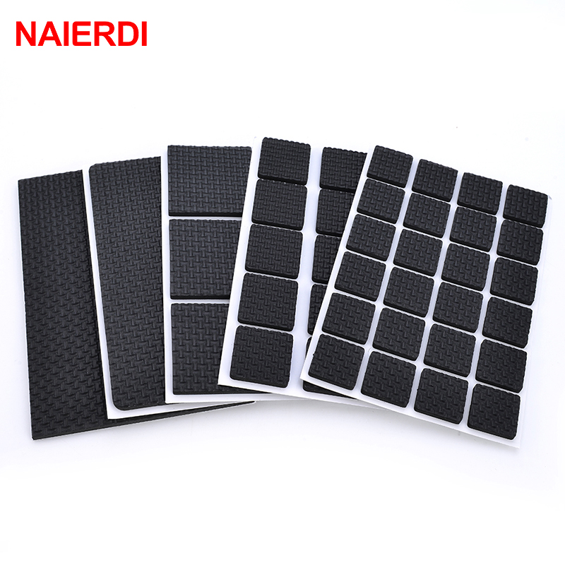 NAIERDI 1-24PCS Anti Slip Mat Self Adhesive Furniture Leg Feet Rug Felt Pads Bumper Damper For Chair Table Protector Hardware