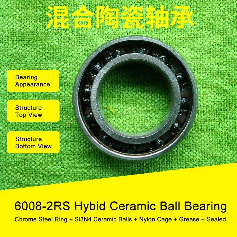 6008 Hybrid Ceramic Bearing 40x68x15 mm ABEC-1 ( 1 PC ) Bicycle Bottom Brackets & Spares 6008RS Si3N4 Ball Bearings 7805 2rsv 7805 angular contact ball bearing 25x37x7 mm for fsa mega exo raceface shimano token bb70 raceface bottom brackets