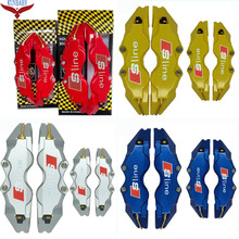 KUNBABY 4 Colors Brake Caliper Cover Model 3 Sline 4 Pcs Car Styling Decoration For Audi And Other Car