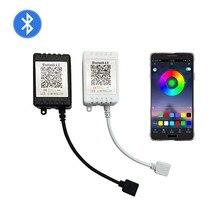 Приложение телефон RGB RGBW контроллер blutooth-контроллер управления светодиодными rgb-лентами DC 5 в 12 В 24 в Bluetooth ИК пульт дистанционного диммер для светодиодной ленты черный белый