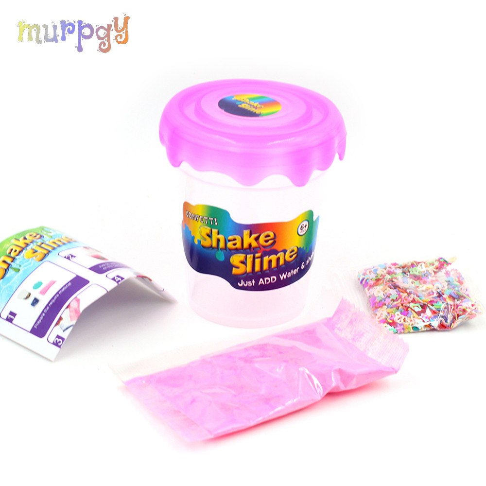 DIY Glitter Slime Magic Make Kit Filler Polymer Clay Powder for Supplies Slime Add Water Shake Putty Set Antistress Toys Gifts