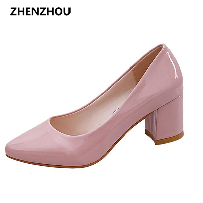 zhen zhou 2017 spring and autumn women's new fashion trend leadership Working shoes comfort Small leather shoes with high heels pamela mccauley bush transforming your stem career through leadership and innovation