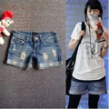 2015 Nueva Promoción de La Manera Mujeres Denim Shorts Ladies shorts Vaqueros Engaste Hole Denim Jeans Casual Pantalones Cortos Sueltos (S-XXL) WS21
