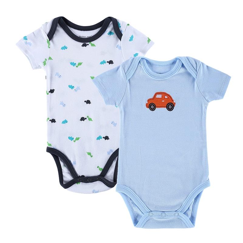 2 Pieces Baby Bodysuits Roupas Infantil Newborn Cotton Short Sleeve Boys Girls Clothes  Jumpsuit Summer Boy Clothes