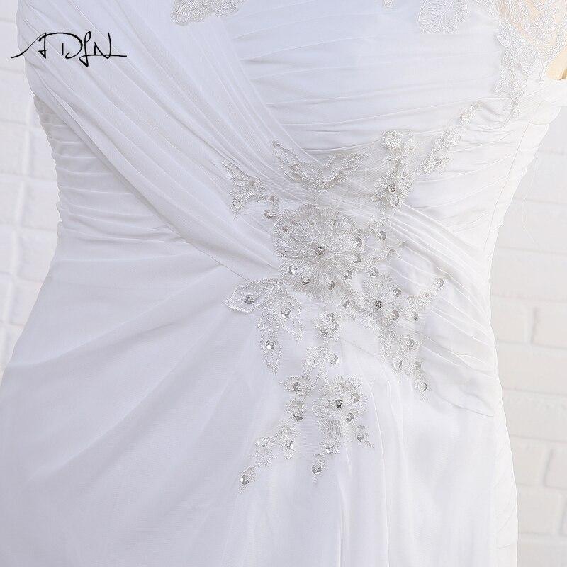 Elegant Applique Chiffon Plus Size Wedding Dress 7