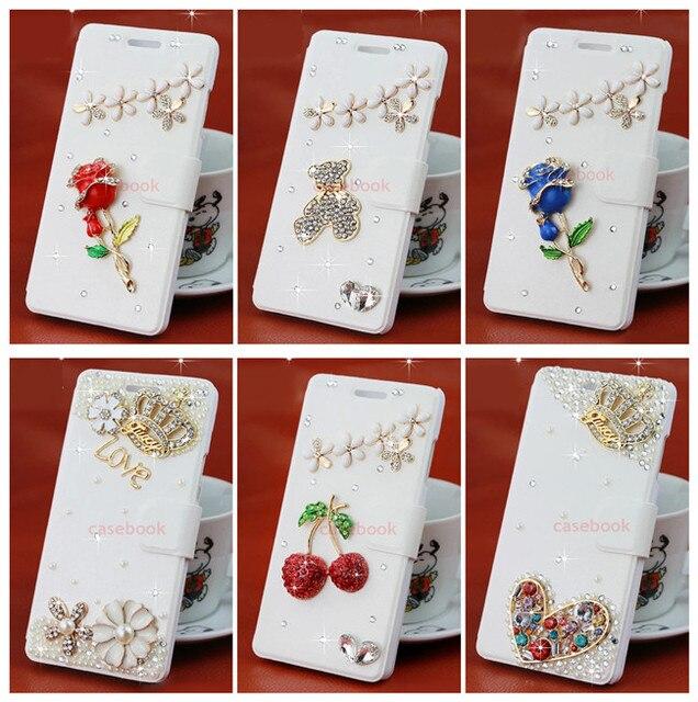 W06 For Philips i908 Case,3D Bling Luxury Crystal Diamond Glitter Wallet Case For Philips Xenium i908