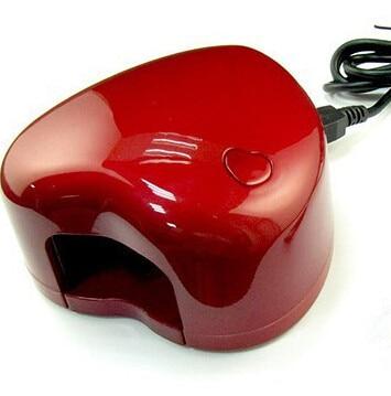 נייל אמנות UV ג 'ל מייבש 3 W USB שקע או סוללה כוח חדש לב צורת מיני נייד נייל UV LED מנורת מסמר מייבש