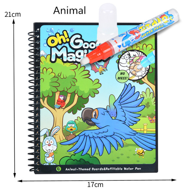Kids Painting Magic Water Drawing Book with pen Coloring book Water ...