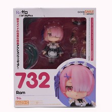 Re:Life In A Different World From Zero Ram 732# Nendoroid Action Figure figurine model цена